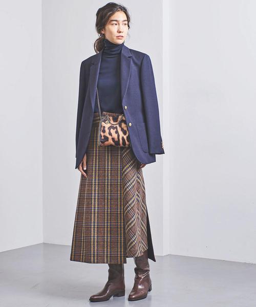 [UNITED ARROWS] 別注<near.nippon(ニアー ニッポン)>チェック スカート