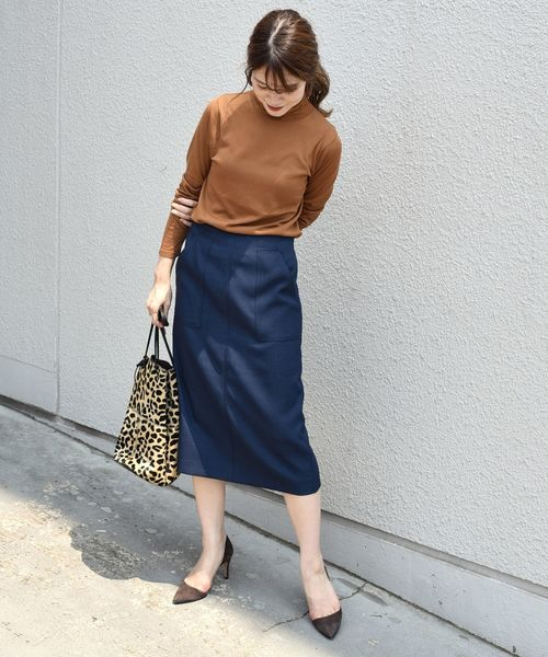 [SHIPS for women] 【手洗い可能】ポケットタイトスカート◇