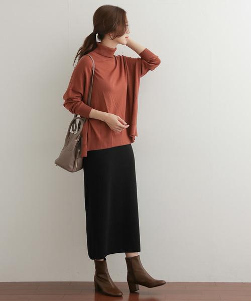 [URBAN RESEARCH DOORS] コットンリブニットタイトスカート