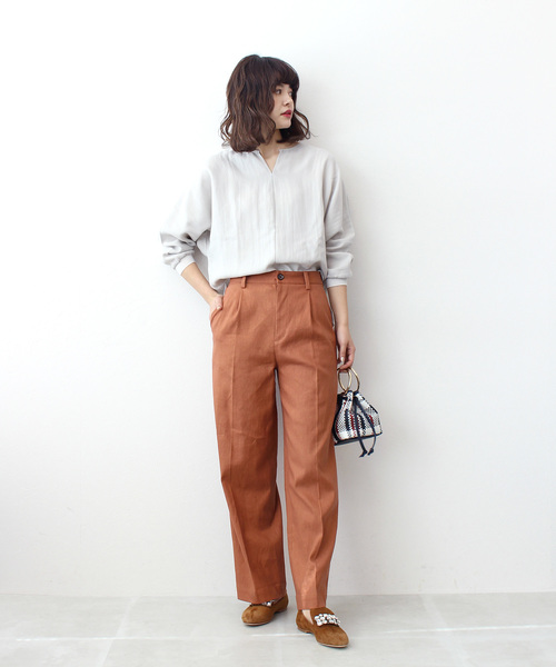 [DRESSLAVE] linen wide pants