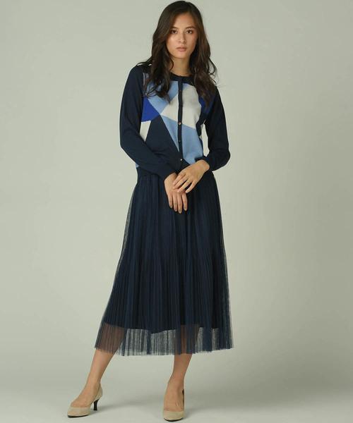 19[Viaggio Blu] チュールプリーツスカート