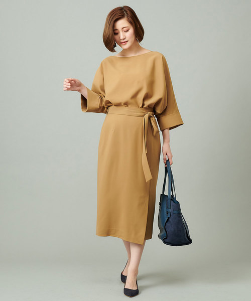 [RIVE DROITE] ポリエステルツイルナロースカート