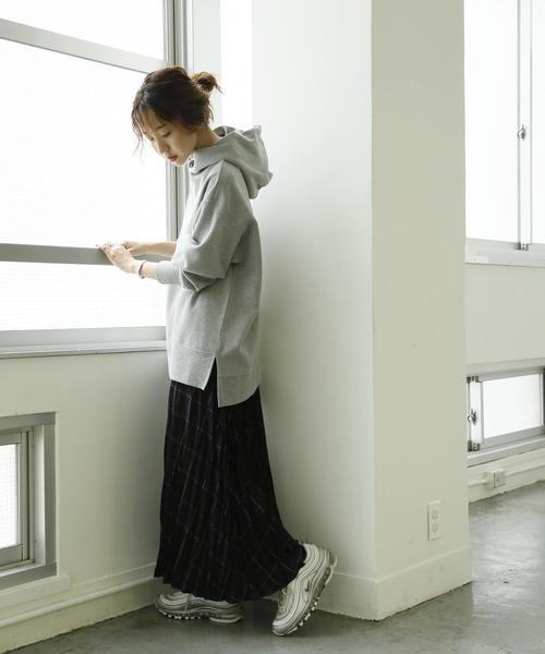 [coen] CVC裏起毛オーバーサイズフーディ(パーカー)