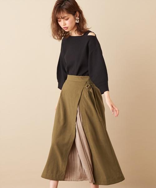 [natural couture] ワンショルバルーンニット