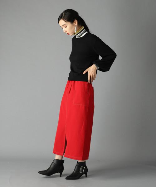 3[HARE] カラーステッチナロースカート(HARE)