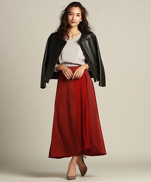 1[LAUTREAMONT ONLINE SHOP] 【WEB別注】アシンメトリープリーツスカート