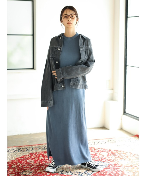[CRAFT STANDARD BOUTIQUE] 【2019AW】 MAXI KNIT ONE-PIECE/クルーネックニットワンピース〇