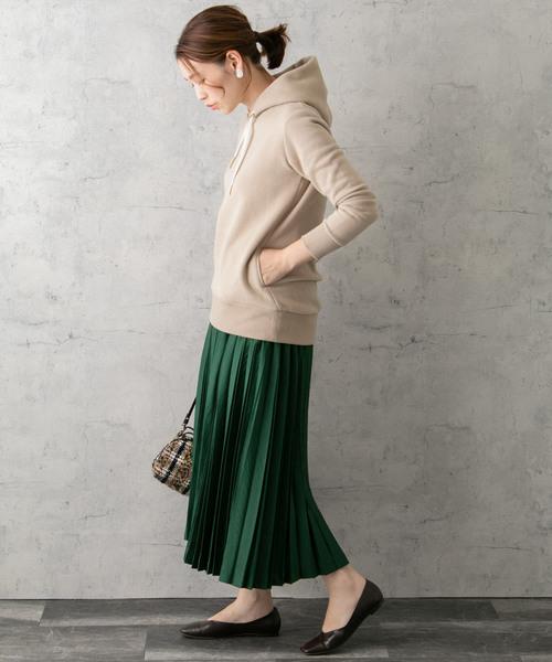 0[URBAN RESEARCH ROSSO WOMEN] サテンプリーツスカート