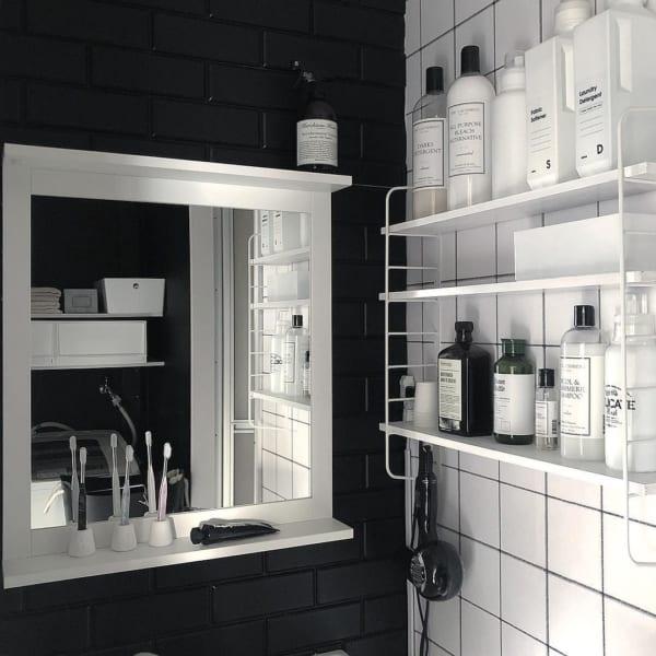 シンプル&クールな洗面コーナー