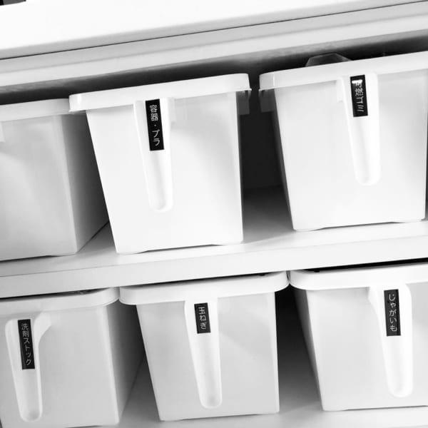 ゴミ袋や容器など取っ手付きケースに【セリア】