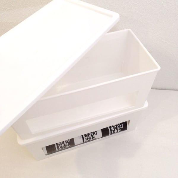 自立ゴミ袋などを取り出し口付きケース【セリア】