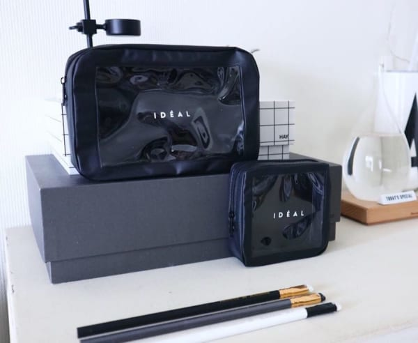 IDEALシリーズ・クリア窓付ポーチ