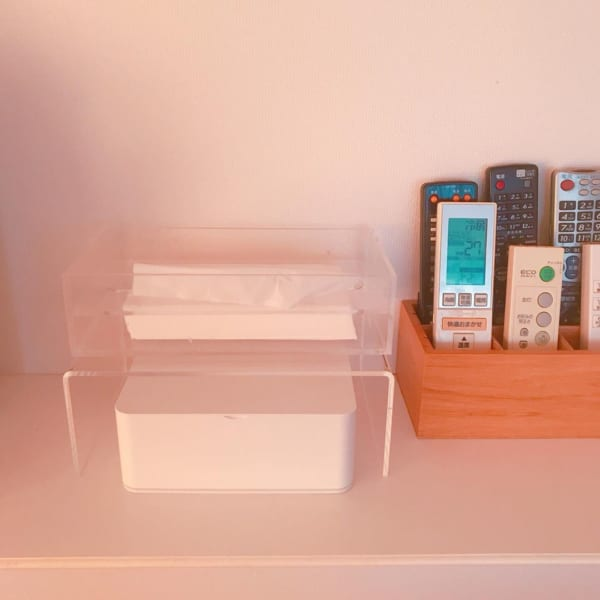 無印良品のアクリル仕切り棚で、収納スペースの有効利用2