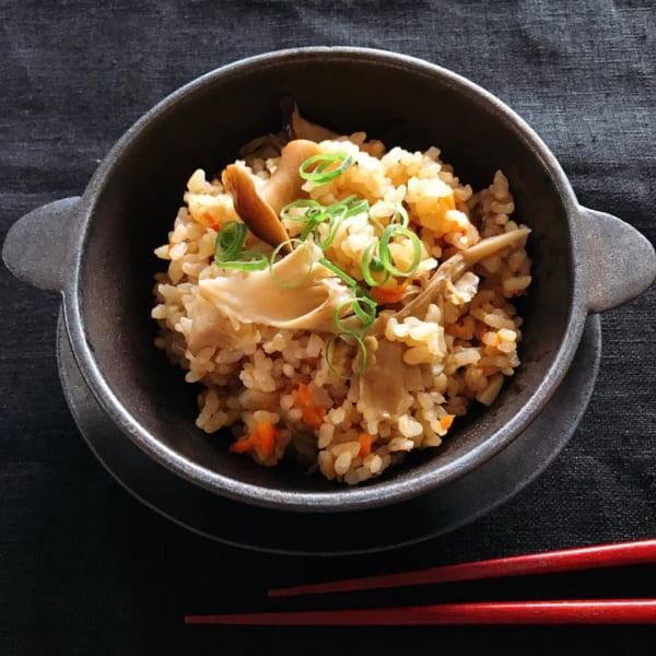 舞茸の玄米炊き込みごはん
