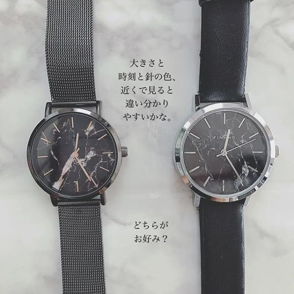 【ダイソー】大理石風レディース腕時計3