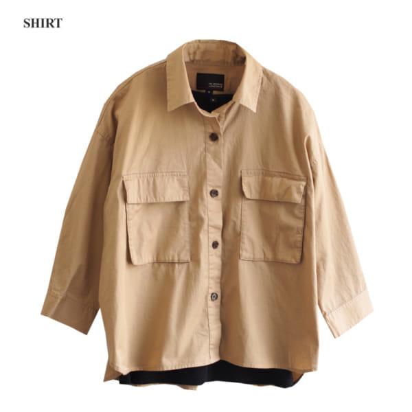 しまむら人気ブランド「HK WORKS LONDON」ミリタリーシャツ