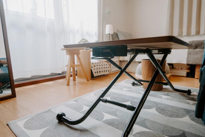 フレキシブルに使える家具で、空間を有効利用3