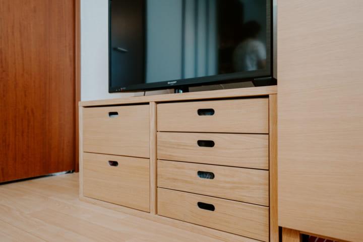 フレキシブルに使える家具で、空間を有効利用5