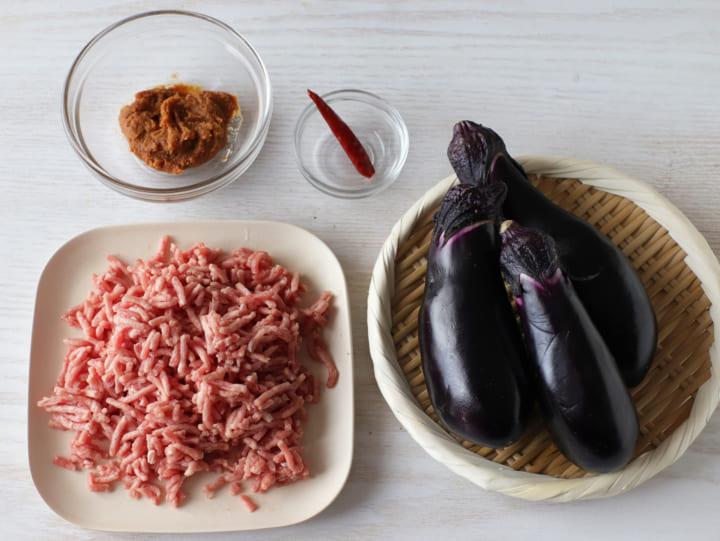 ナス レシピ 秋ナスの肉味噌あん