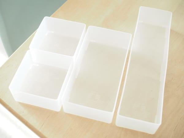 1.キッチン小物の収納に便利!「引き出し整理ボックス」シリーズ