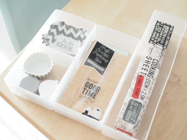 1.キッチン小物の収納に便利!「引き出し整理ボックス」シリーズ3