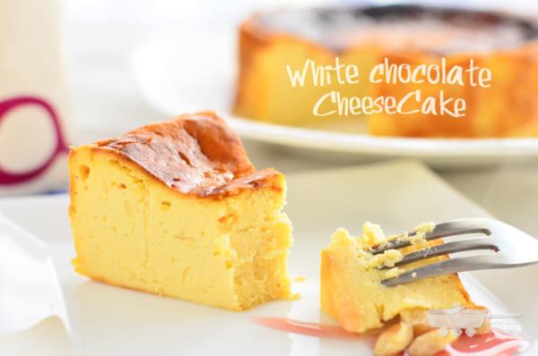 ホワイトチョコレートで人気のチーズケーキスイーツ
