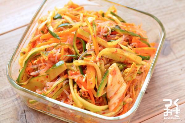 ピリッと酸味のある食べ方レシピに!春雨キムチ