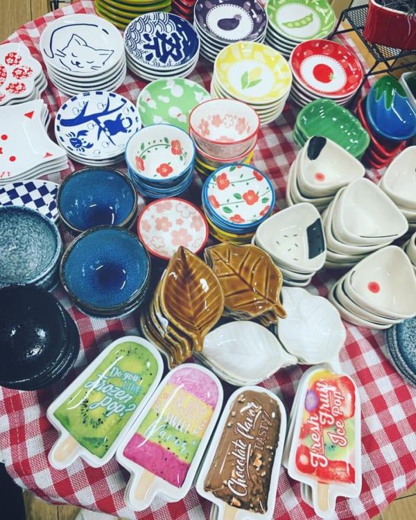 【セリア】楽しい葉っぱやおにぎりの豆皿