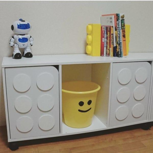 手作りLEGO風収納DIY