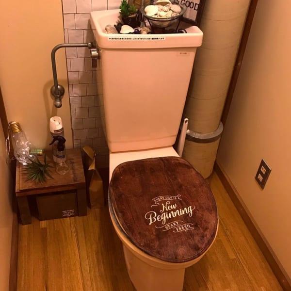 100均アイテムでトイレもカフェ風コーディネート