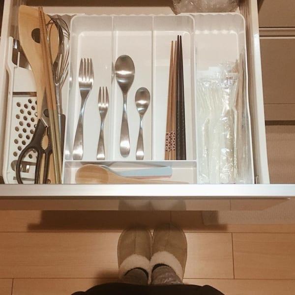 一人暮らしのキッチンのミニマル収納