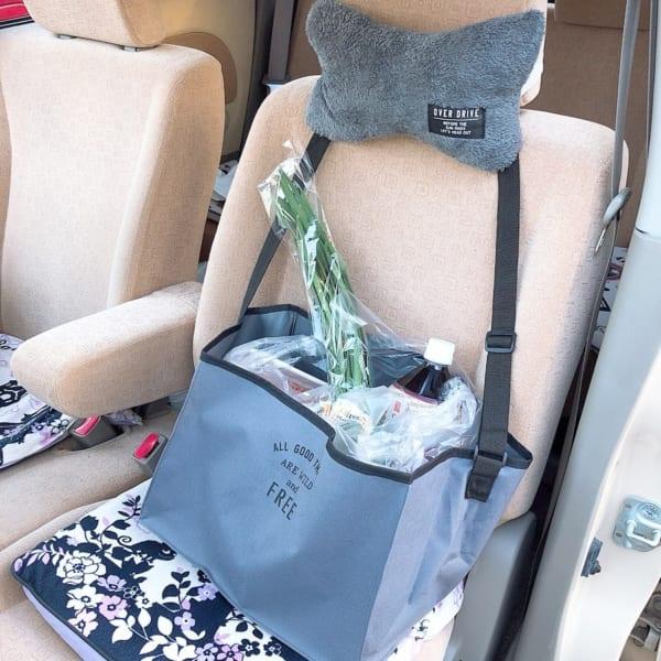 車内もおしゃれにCAR荷物収納スクエア型バッグ