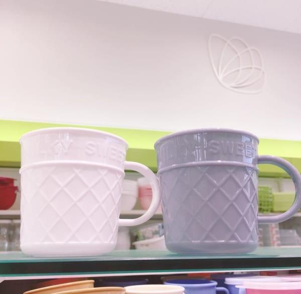 【セリア】ポリプロピレンのアイスコーンマグ
