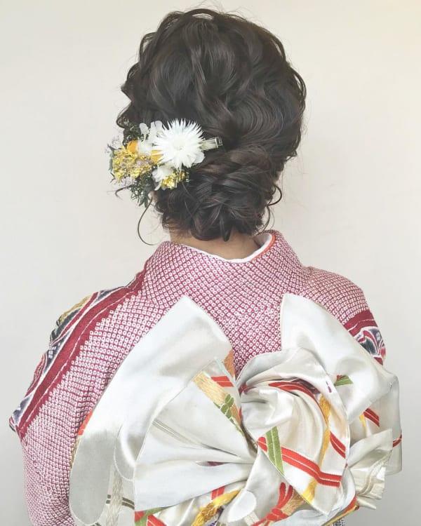 和装・浴衣向け⑤三つ編み&タイトなまとめ髪