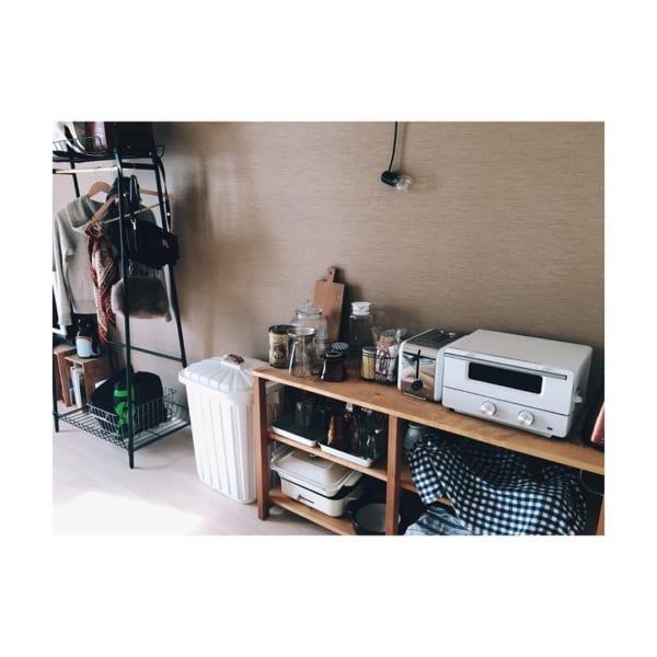 狭いキッチンより使いやすい!簡単オープン棚をDIY