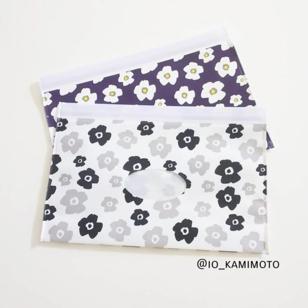 【セリア】花柄ウェットシートケース