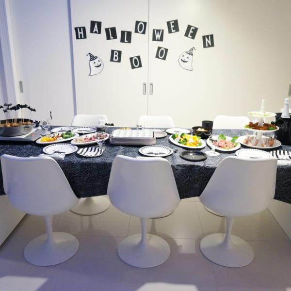 ハロウィンのおしゃれで楽しいテーブルコーディネート