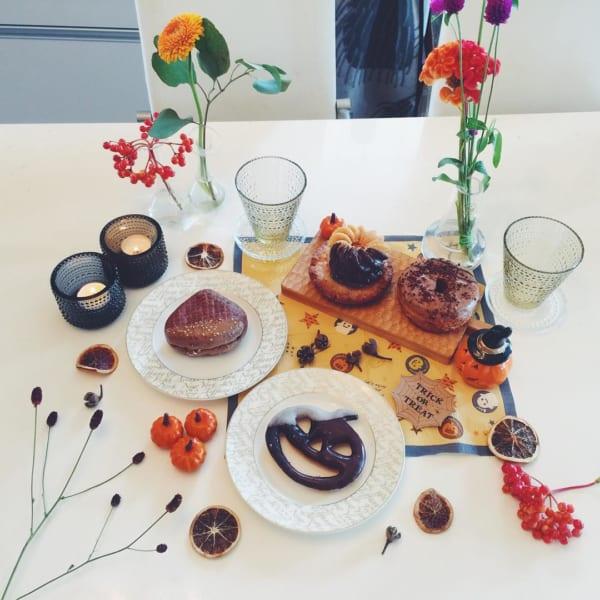 ハロウィンのおしゃれで楽しいテーブルコーディネート2
