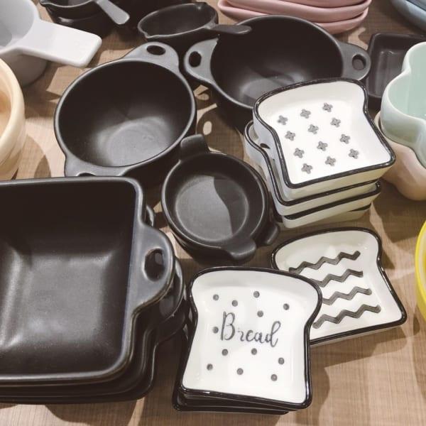 【セリア】クールなモノトーンの豆皿