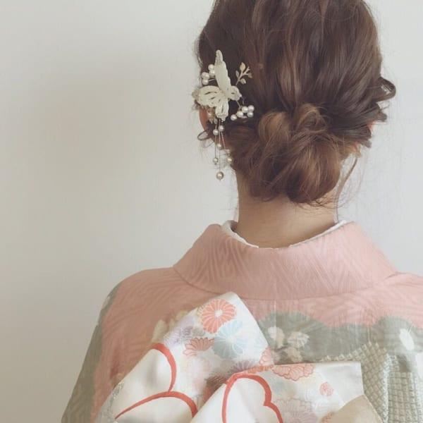 和装・浴衣向け⑪しっとり大人のまとめ髪