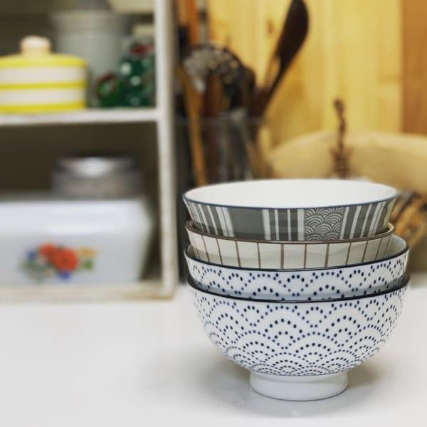 和風柄のお茶碗【キャンドゥ】