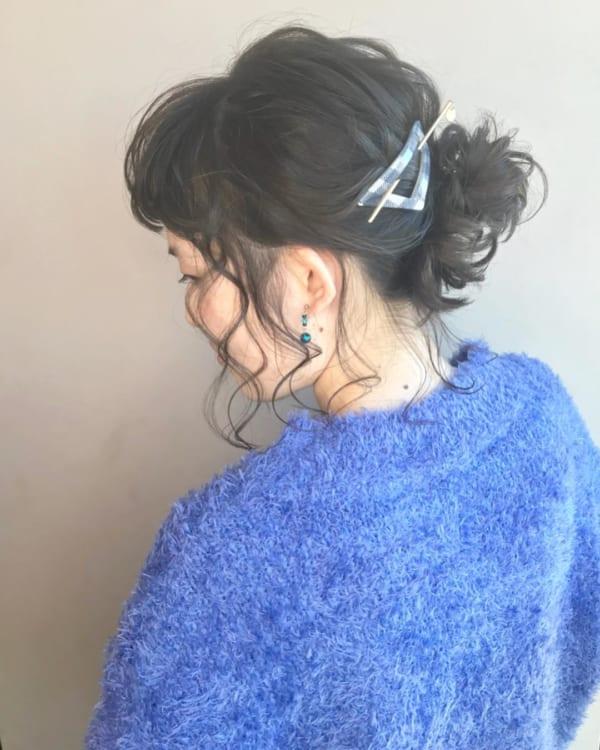 オフィス向け④ミディアム向けまとめ髪