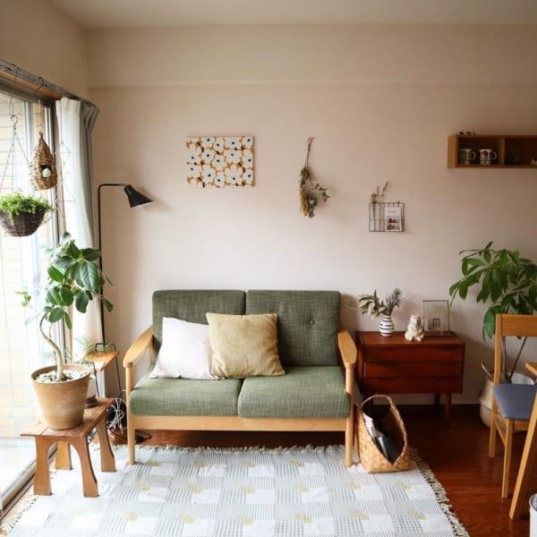 活き活きとしたグリーンが、お部屋に心地よさを与える