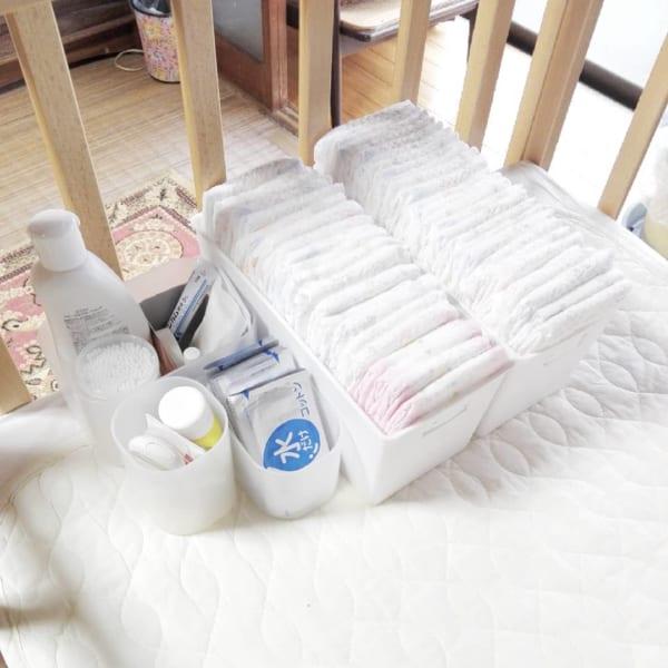 赤ちゃんのオムツ収納