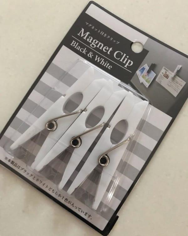 【セリア】マグネットクリップ