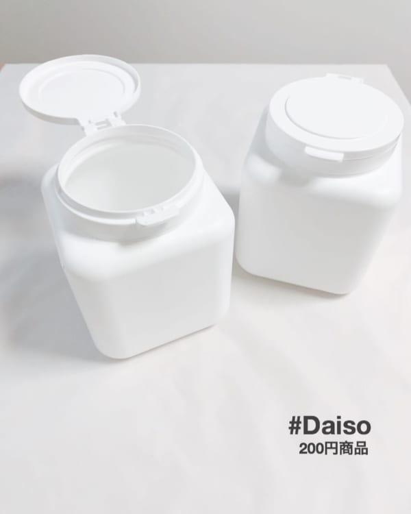 ダイソーのジェルボール、粉末ケース・キューブ型