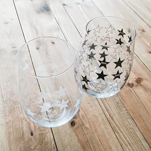 【ダイソー】大人気☆クールな星柄グラス