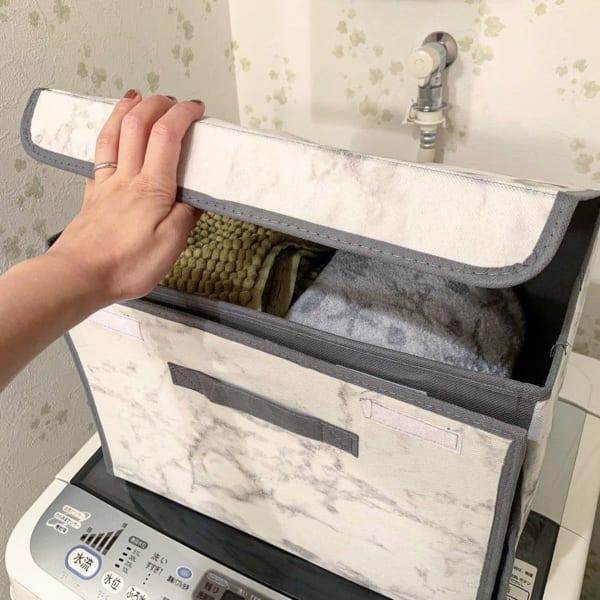 フタ付きワイド収納ボックス