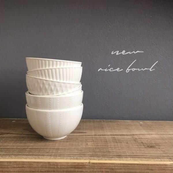 ホワイトごはん茶碗