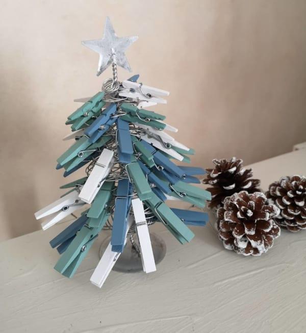 クリスマスデコレーションDIY 木製ミニツリー2